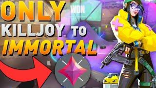 VALORANT - How I Hit IMMORTAL Playing KILLJOY ONLY - Killjoy Tips & Tricks