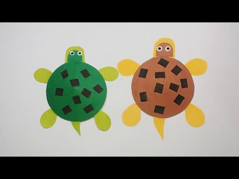 Moving Paper Turtle for Kids || How to Make a Moving Paper Tortoises || kids crafts