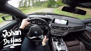 2016 BMW 7 Series 750d xDrive 400hp POV test drive GoPro