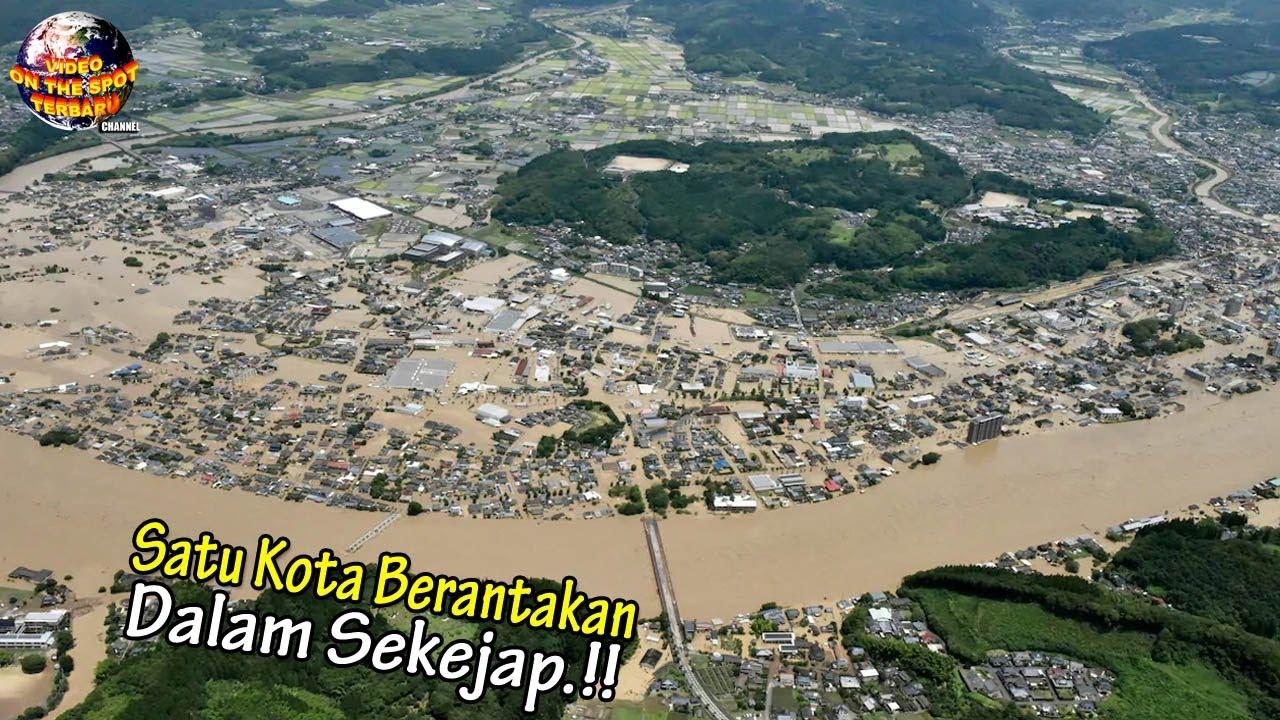 Dalam Sekejap Satu Kota Luluh Lantah Dihantam Air Meluap & Tanah Bergerak, KUASA TUHAN NYATA.!!