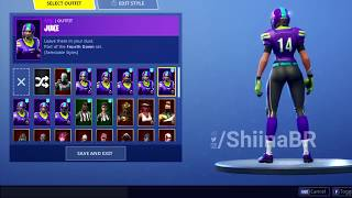 MALE/FEMALE NFL SKINS w ALL STYLES! [IN-GAME] FORTNITE BATTLE ROYALE