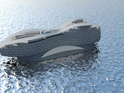m3architects floating hotel Arabian Sea