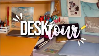 DESK TOUR📝💗 // scrivania, stationery collection