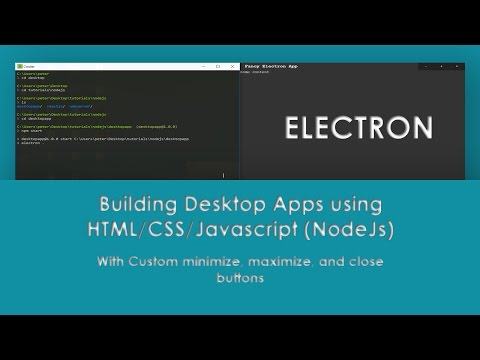 Getting started with Electron | Custom minimize, maximize and close buttons