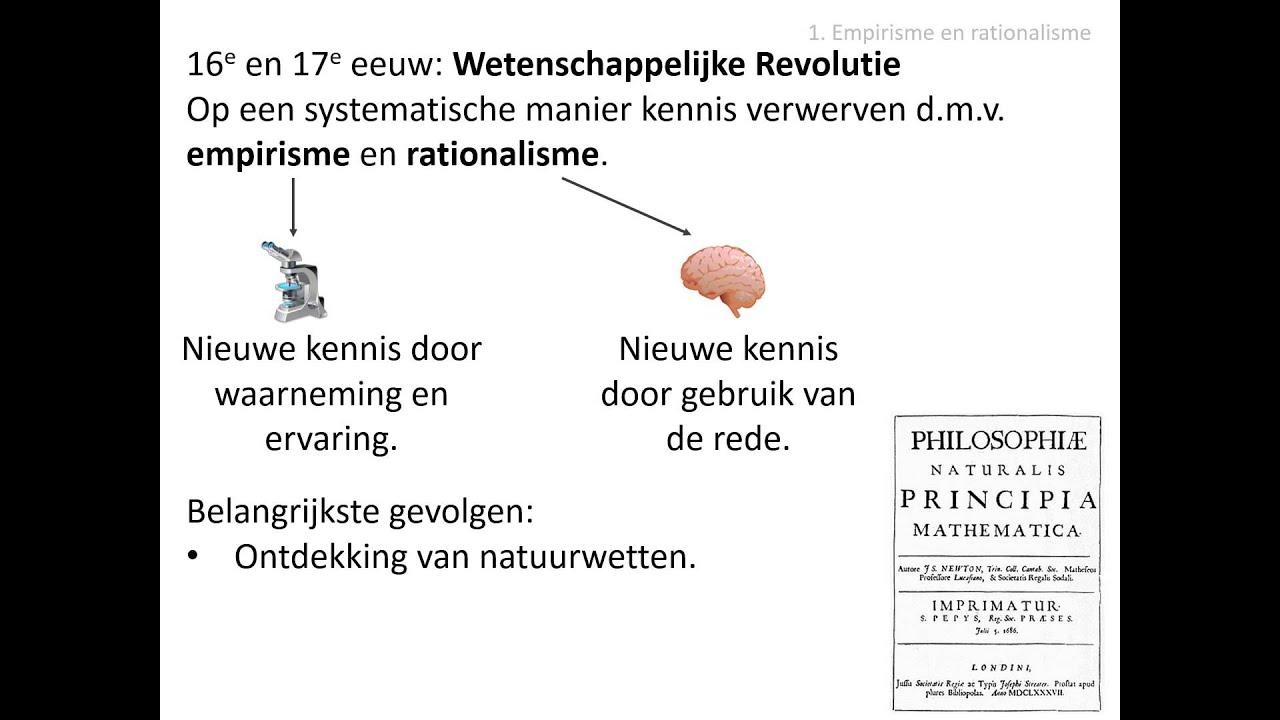 1. Empirisme en rationalisme (HC De Verlichting) - YouTube