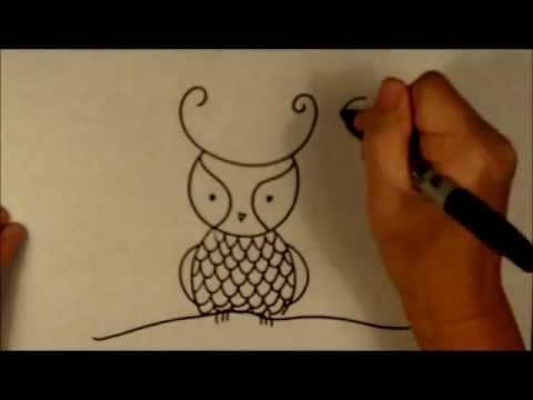 How to Draw a Cartoon Owl Easy Beginner Drawing Tutorial ...  How to Draw a C...