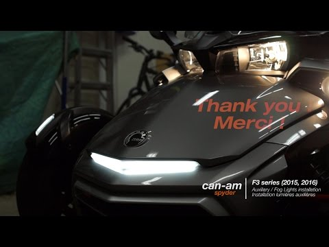 Can-am Spyder F3 Series Signature Light Installation