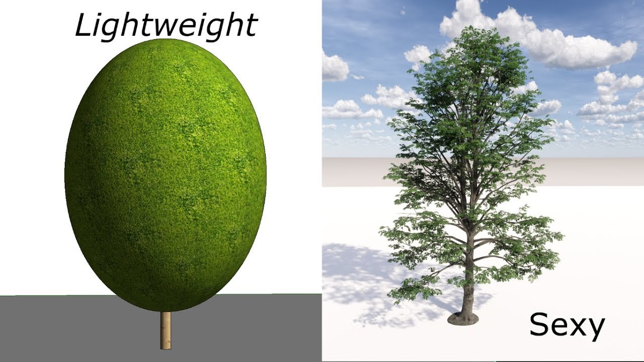 BIMedge - Enscape Trees and Plants - Light Weight in Revit, Look Good in  Enscape