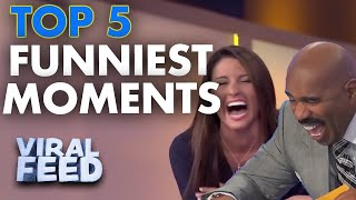 TOP 5 FUNNIEST FAMILY FEUD MOMENTS | VIRAL FEED