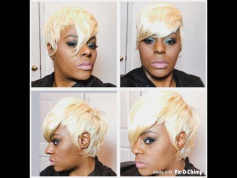 Blonde Short Cut 27 Piece Closure