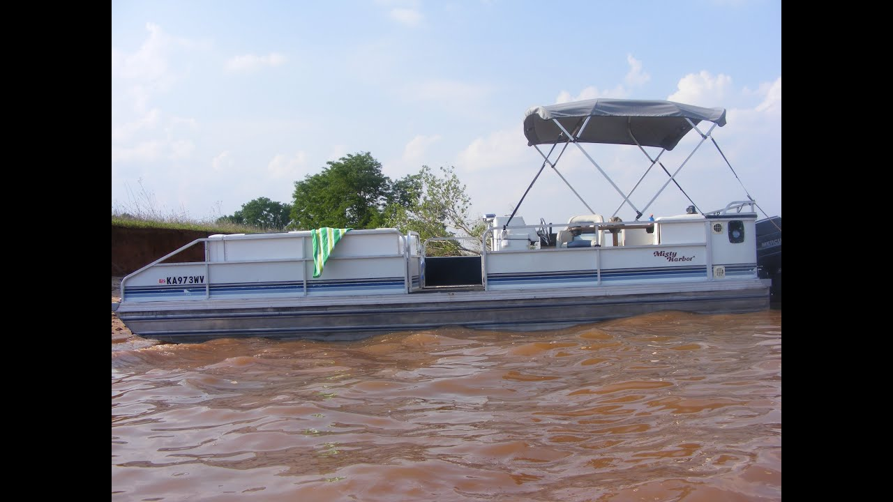Sold 24 39 misty harbor pontoon boat for sale in kansas a for Pontoon boat without motor for sale