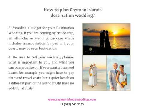 The best way to choose a destination wedding package in Cayman