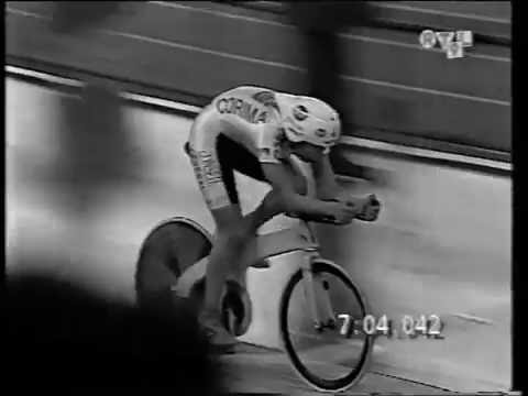Catherine Marsal World Hour Record, April 1995. PART 1