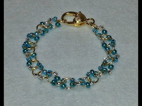 DIY~ Make A Gorgeous Bracelet With Jump Rings and E Beads!