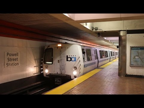 San Francisco Bay Area Rapid Transit (BART) Trains and Ride to the Airport
