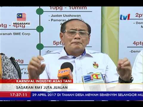KARNIVAL INDUSTRI ASAS TANI - SASAR RM1 JUTA HASIL JUALAN [28 APR 2017]