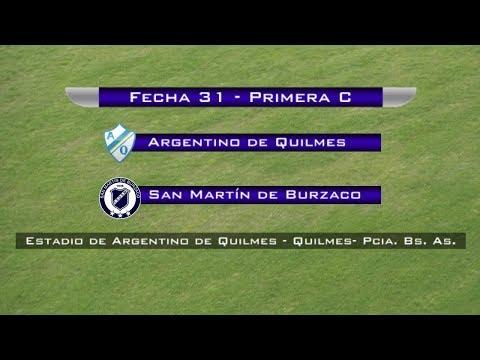 Fecha 31: Argentino de Quilmes vs San Martín de Burzaco - EN VIVO