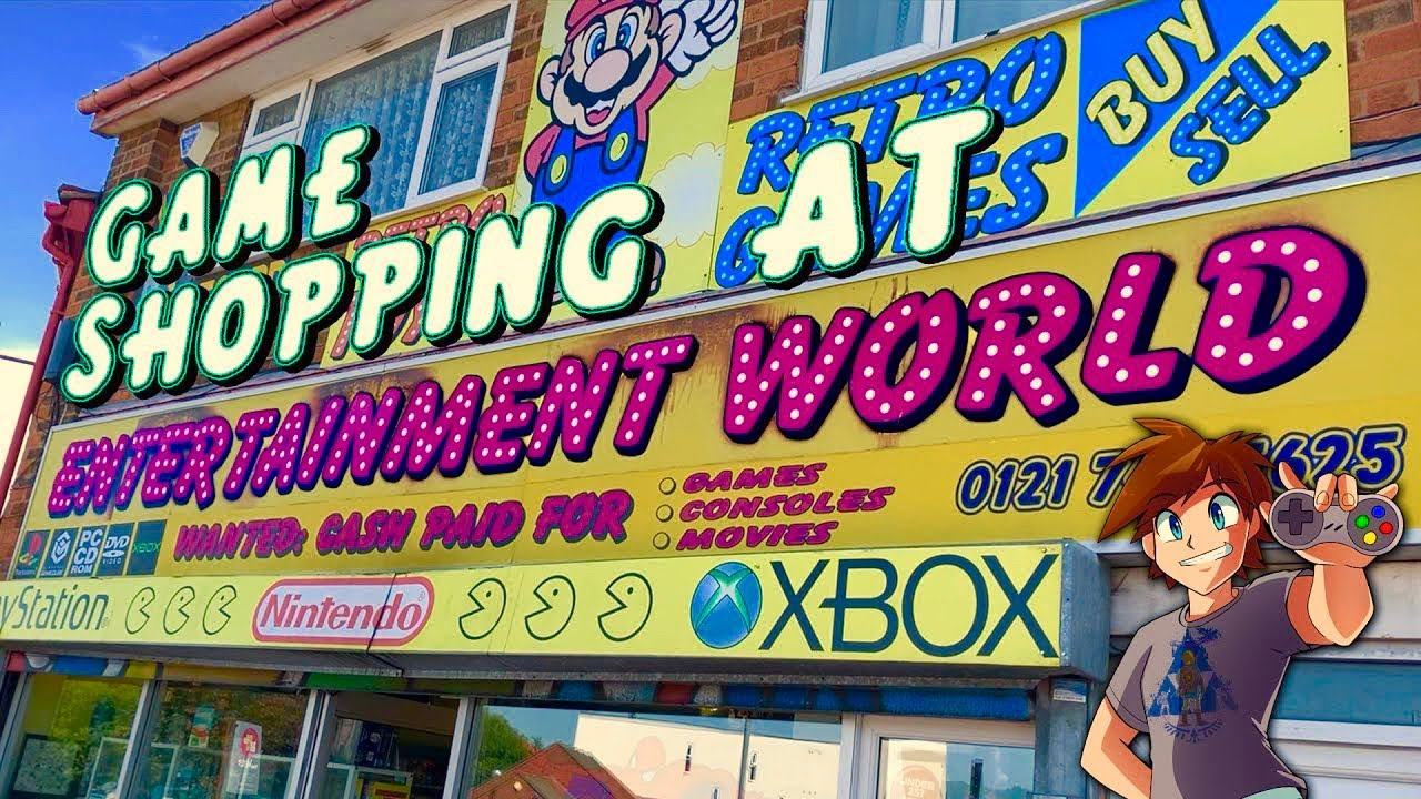 Game Shopping At Entertainment World!   Birmingham's Biggest Game Shop!