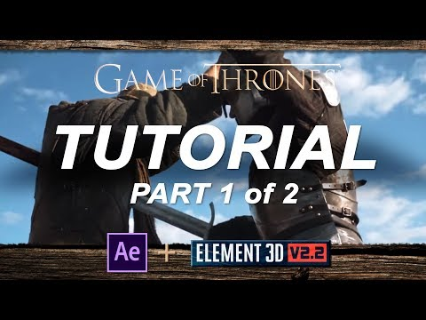 Game of Thrones Sword Stab TUTORIAL Part 1 of 2 | Adobe After Effects and Element 3D
