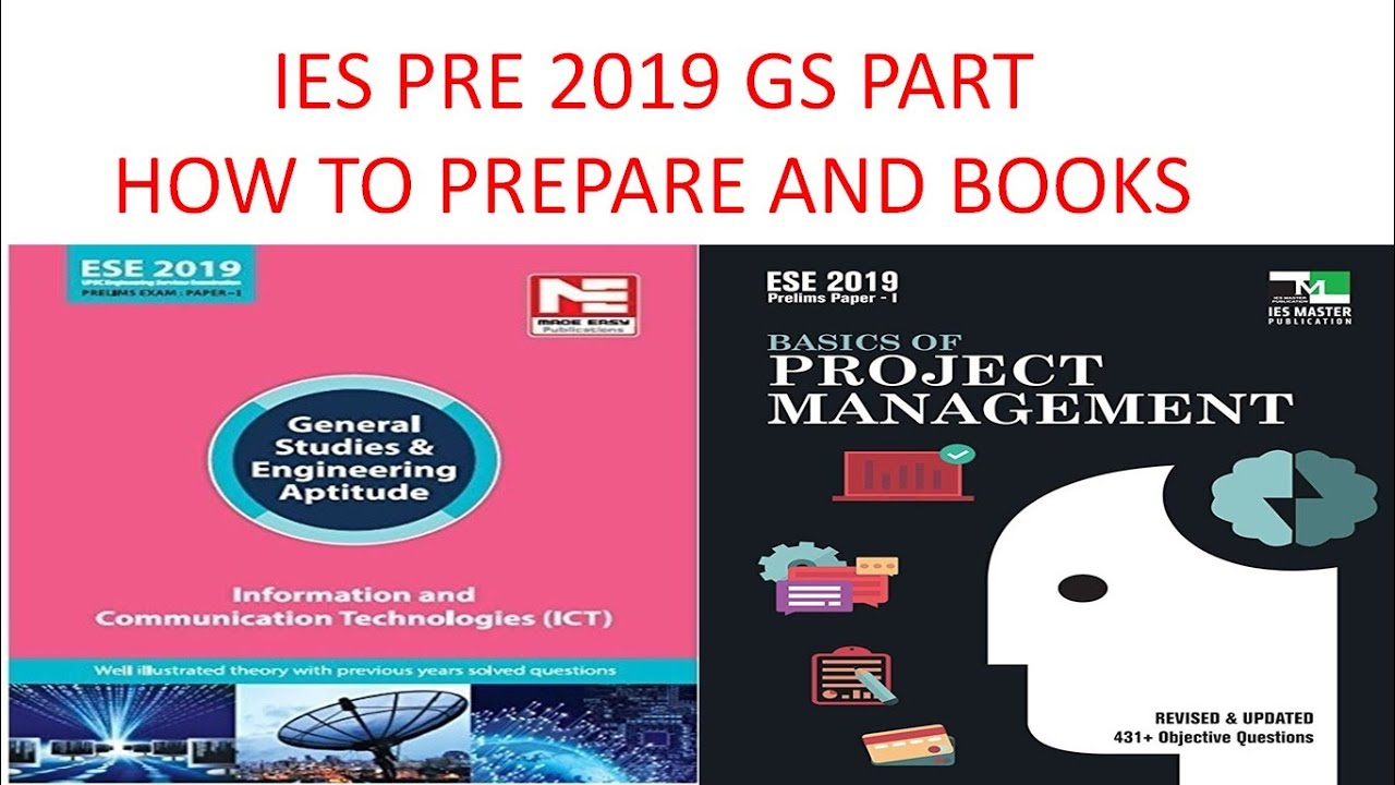 IES PRE 2019 GS PART HOW TO PREPARE AND BOOKS