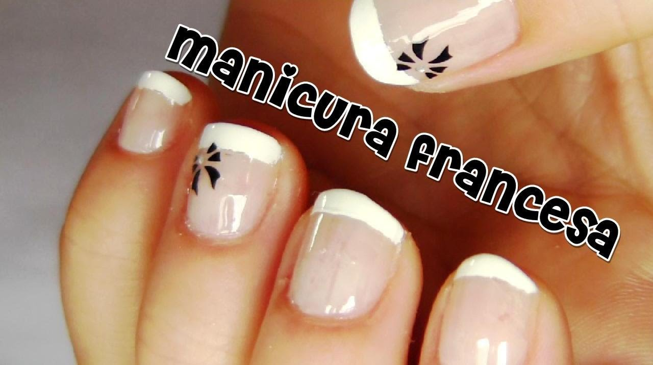 manicura francesa para u as cortas 2 youtube