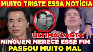 URGENTE! Triste noticia de Silvio Santos depois de Gugu Liberato... Família mostra última carta