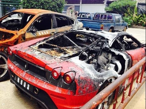 Multiple Exotic Cars Including Lamborghini Ferrari And