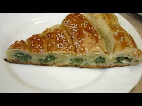 Пирог со Шпинатом и Сыром + Рогалики с Корицей!Pie With Spinach