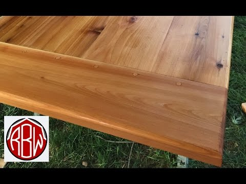 Table Top From Cedar Lumber