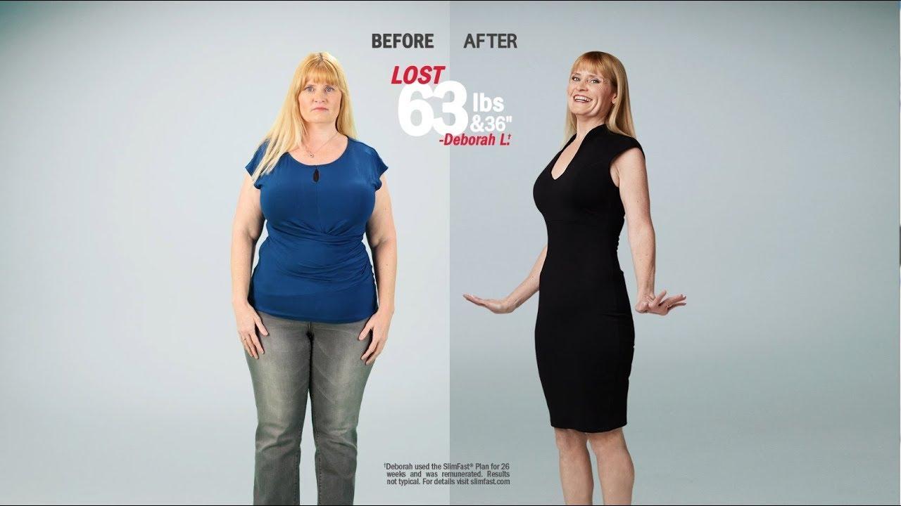 """Slim Fast Diet >> SlimFast Success Story   Deborah   Lost 63 lbs and 36"""" - YouTube"""