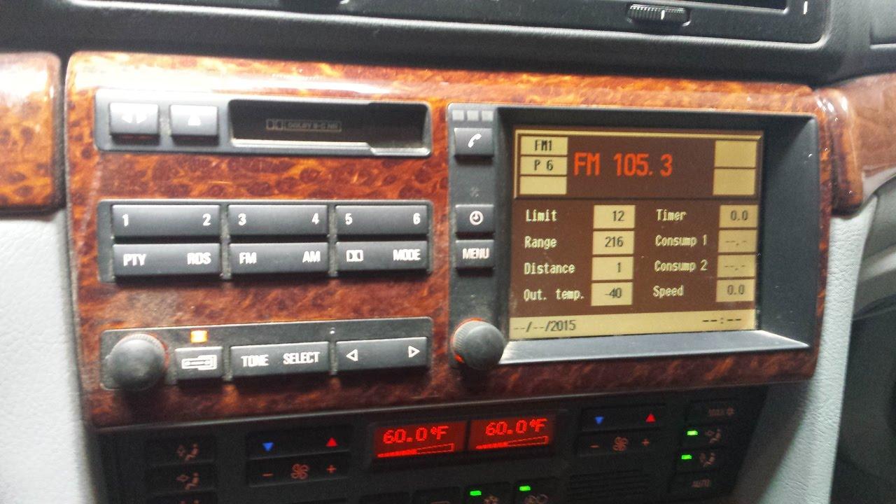 bmw e38 740i dash navigation display screen removal youtube. Black Bedroom Furniture Sets. Home Design Ideas