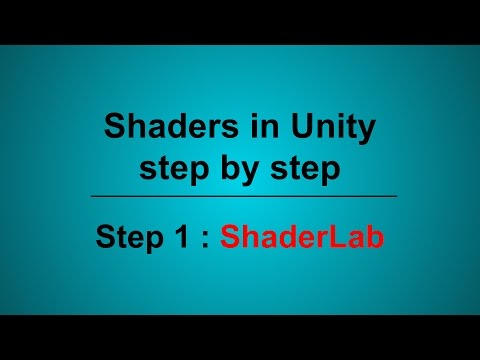Shaders in Unity, Step 1 : Shaderlab
