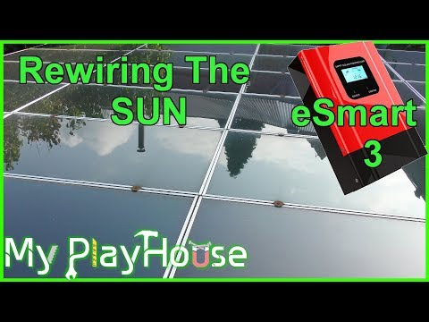 Rewiring1Kw of Solar Panels for the eSmart3 MPPT Charger - 5
