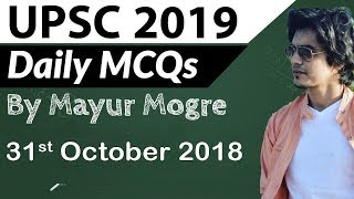 UPSC 2019 Preparation - 31 October 2018 Daily Current Affairs for UPSC / IAS 2019