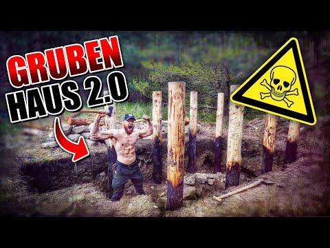 grubenhaus-2.0-bushcraft-shelter-#004---lagerbau---outdoor-bushcraft-camp- -fritz-meinecke