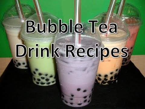 Bubble Tea Drink Recipes MangoCoconutTaroPapaya