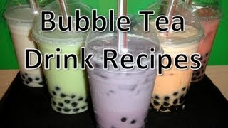 Bubble Tea Drink Recipes (mango/coconut/taro/papaya/watermelon)