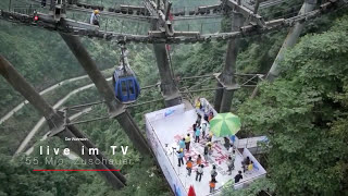 Freddy Nock - High Wire Record - Tianmen Mountain China 2014 HD