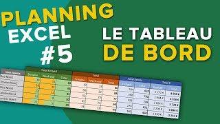 Le Tableau de bord sur Excel - Créer un planning part 5