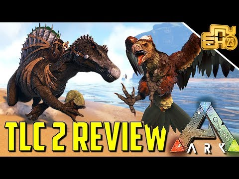 ARK: SURVIVAL EVOLVED: TLC 2 REVIEW! (NEW ARGENT, SPINO, SARCO & MORE)