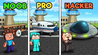 Minecraft - AIRPORT CHALLENGE! (NOOB vs PRO vs HACKER)