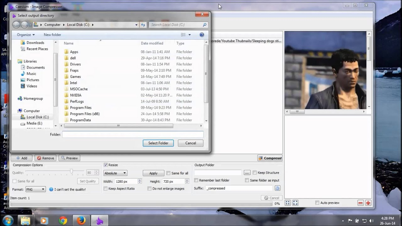 How to do PNG Compression Using Caesium Image Compressor