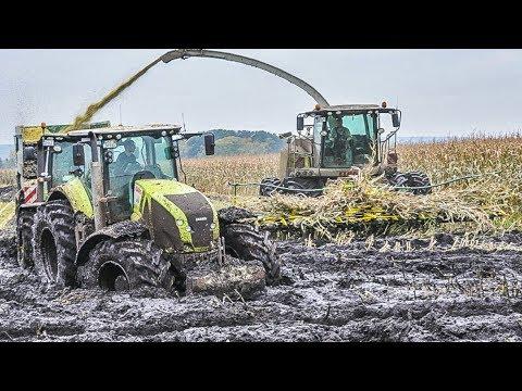 JOHN DEERE Traktoren im Schlamm | Schlammschlacht | Maishäckseln | Claas Jaguar | Fendt Traktoren
