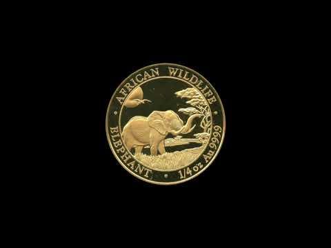 1/4 oz Somalia Elefant Gold - 2019