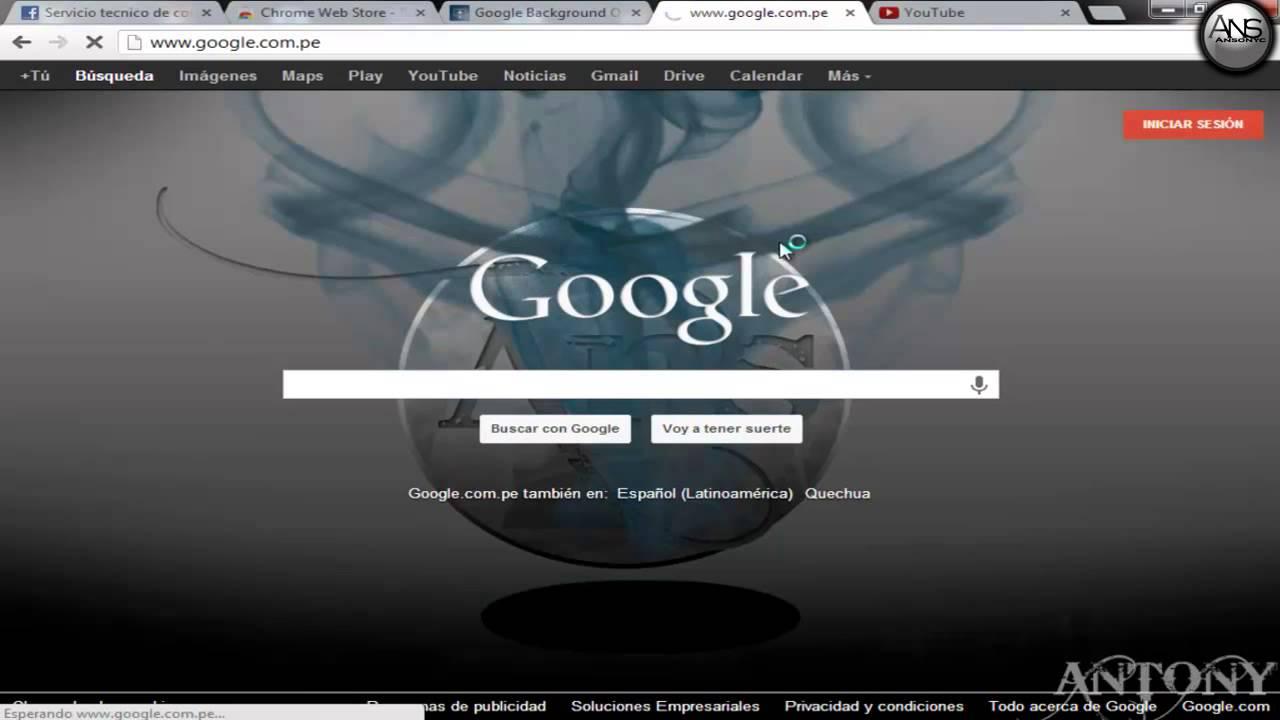 cambiar la imagen de fondo del google 2015 - YouTube