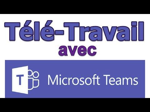 Télé Travail avec Microsoft Teams