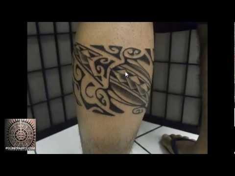 Tatuajes De Brazaletes Maories Polinesios En Las Piernas Para El