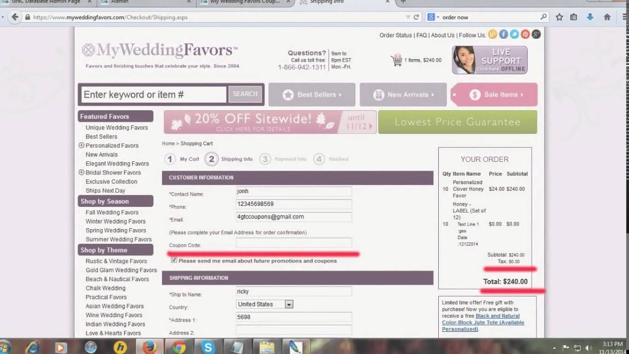 My Wedding Favors Coupon Codes Get 40 Off On Orders 200 Or More