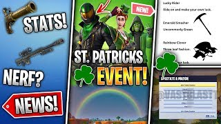 ST. Patricks Event + Leaked Skins, Spectate Feature, Custom Map & More! (Fortnite News)
