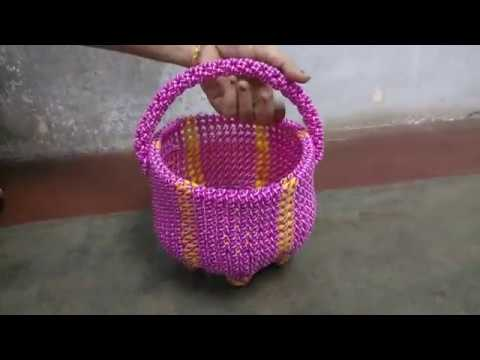 Normal knot double wire pooja basket - measurement - promo